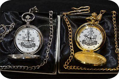 Boys Brigade Pocket Watch In Silver Or Gold Colour With Chain Engraved Or Not