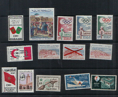 Morocco 1963-64 Ten sets unmounted mint