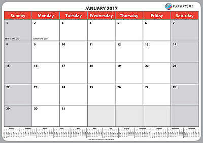 A3 (large) 2017 Wall Memo Notes Calendar, We Only Sell Calendars and Planners