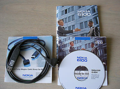 Classic Nokia 6100 Manual + CD + DKU-5 Cable
