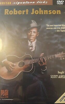 Robert Johnson signature guitar licks dvd, taught by Scott Ainslie