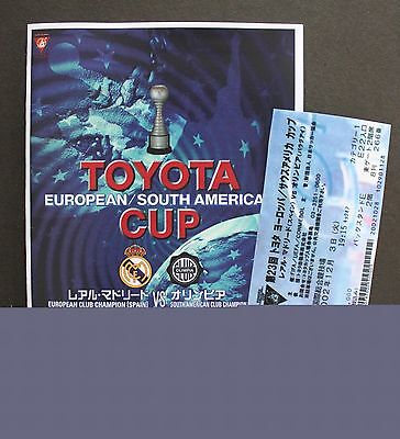 2002 Toyota Cup Replica Programme & Ticket Real Madrid V Olimpia