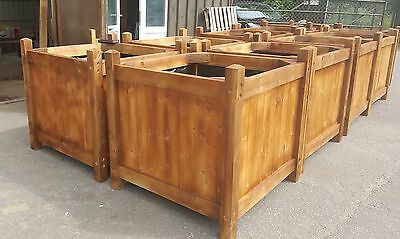 New garden flower tree herb planter wooden plant trough large box planting pots