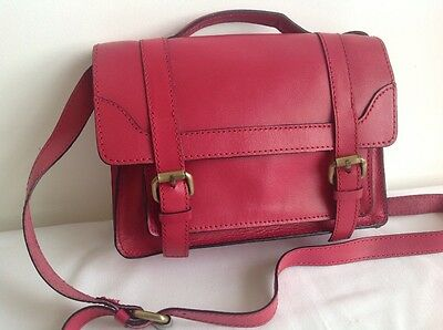 Zara Girl Pink Leather Satchel Bag, Great Condition