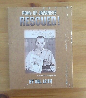 signed OSS VET WW2 book General Wainwright POW rescue Leith