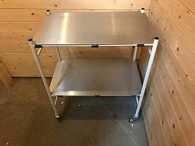 Clinical, catering, medical, surgical steel trolley