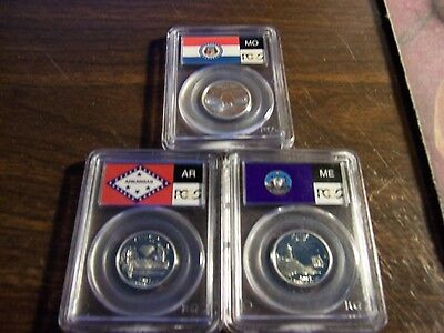 ( Lot Of3) 2003-S Silver Coins Certified By Pcgs-Pr69Dcam Good Selection-Lot#12