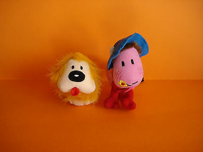 Magic Roundabout Ermintrude & Dougal Soft Beanie Toys - V Good & Clean Condition