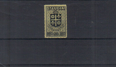 St Lucia 1938-48 10/- lightly mounted mint