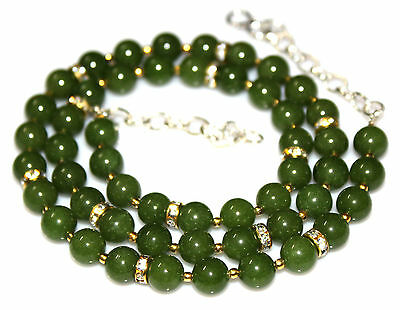 Ct 200.35 Natural Nephrite Jade Women's Fashion Necklace Gemstone Gift +