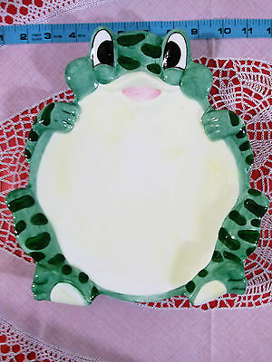 Frog Shaped Large Cheese and Cracker Serving Plate Collectible