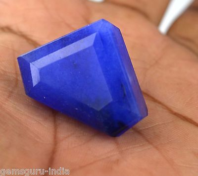 102.90 Ct Ebay Natural Triangle Cut African Blue Sapphire Loose Gemstone-DEALS