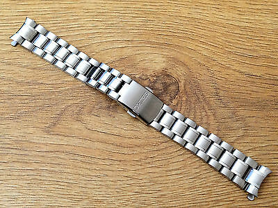 New Seiko 18Mm Stainless Steel Gents Watch Strap For Various Seiko Watches