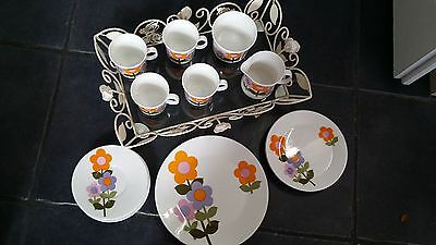 15 piece Dolly days vintage tea set by John Russell. 1960s/70s