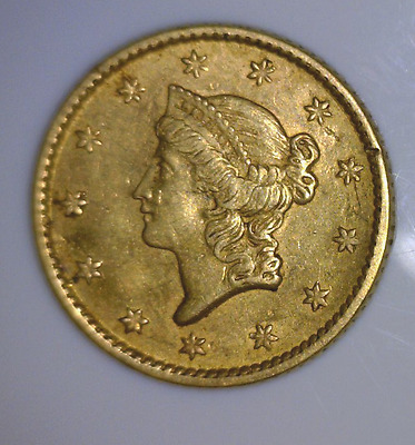 "1853 $1 Gold Coin ""No Reserve"""