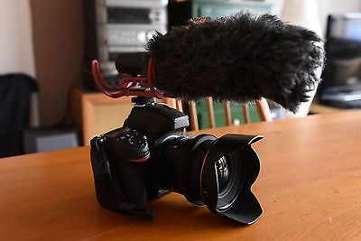 Rode Videomic with Rycote Lyre shock mount and Deadcat