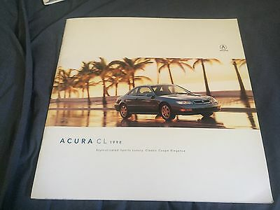 1998 Honda Acura CL Coupe USA Market Color Brochure Catalog Prospekt