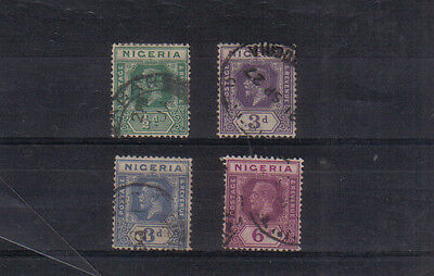 Nigeria George V 1921-32 Four values to 6d used