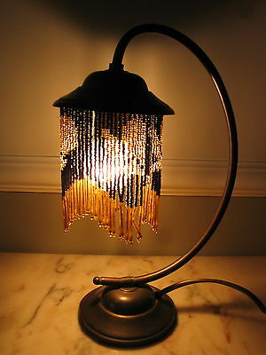 pretty beaded lamp