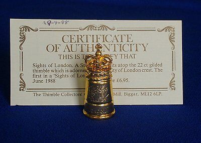 Thimble - 22ct Gold Gilded - Sights of London