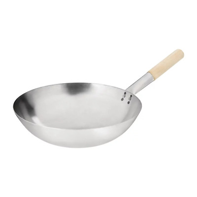 """Hancock 14"""" (36Cm) Round Based Steel Wok Commercial Fry Rice And Noodle Wok"""