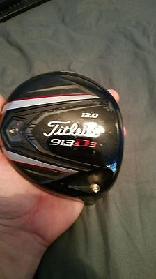 New Tour Issue Titleist 913D3 12* Driver Head Only Golf Club