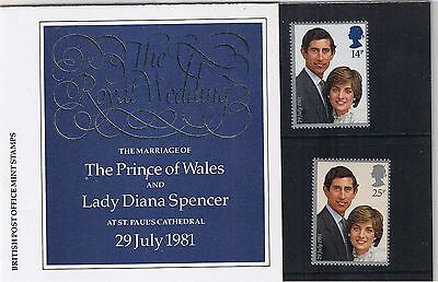GB Presentation Pack 127a 1981 The Royal Wedding Prince Charles Lady Diana