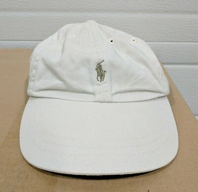 Kids Youth Ralph Lauren Polo Off-White Stretch Cap Hat Pony