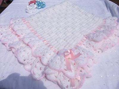 Baby crochet pattern for a shawl or blanket.in Double knitting wool.