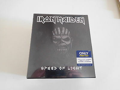 IRON MAIDEN. Speed of light box CD + Shirt sealed mint only best buy USA