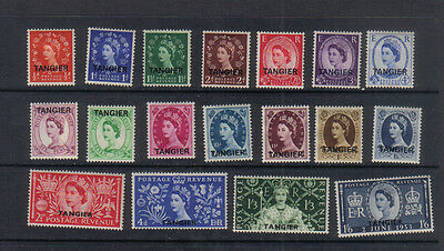 Tangier Queen Elizabeth II 1952-53 Lightly mounted mint collection