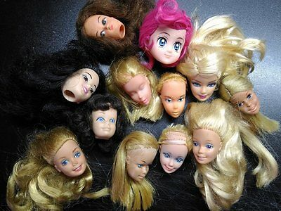 Barbie and dolls HEADS. Needs TLC, for Ooak. Vintage and modern mattel puppen 2