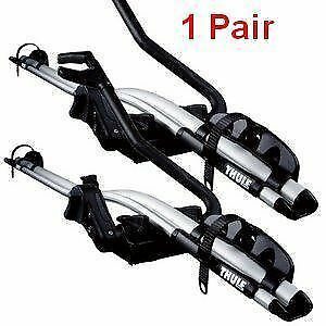 2x Thule 591 ProRide Roof Mount Cycle Bike Racks T Track Genuine  KE73880010 FEB