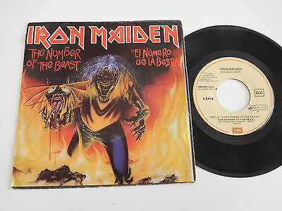 "IRON MAIDEN. Single 7"" The number of the beast. Spanish press"