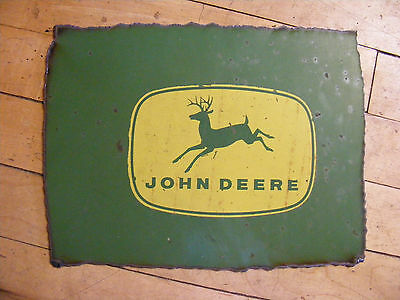 John Deere ~~ Metal Farm Machinery Cut Out ~~8 x 10
