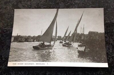 Old Postcard Of The River Waveney In Beccles