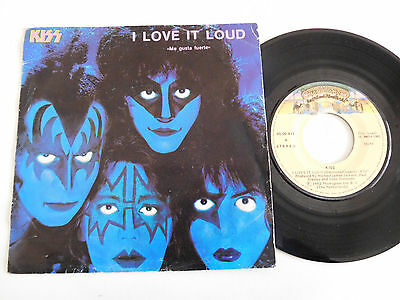 "KISS. Single 7"" Creatures of the night. Spanish press"