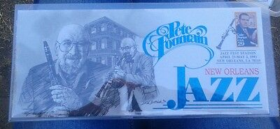 New Orleans Jazz Fest LATE GREAT PETE FOUNTAIN Cachet MINT