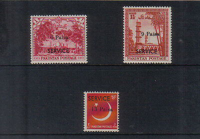 Pakistan 1961 Mastung local Official Surcharge set unmounted mint