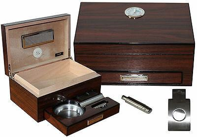 Humidor Set Pour 10 Cigares Cave A Cigares Coupe Cigares Cendrier