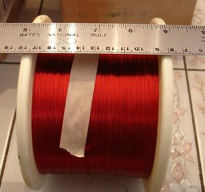 LARGE Roll 26 AWG Gauge Copper Magnet Wire 7.0 lbs, 0.016 Dia