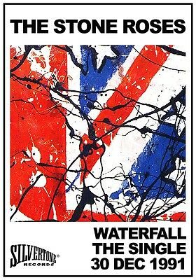 THE STONE ROSES Waterfall - The Single PHOTO Print POSTER Ian Brown Mani 1991 39