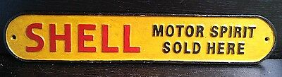 LARGE Cast Iron Vintage Style SHELL Sign Wall Plaque AUTOMOBILE Gas & Oil DECOR