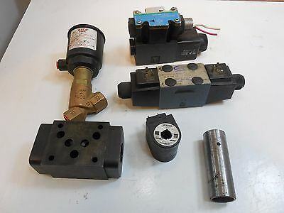Hydraulic Control Solenoid Valve & Manifold Parts Lot ASCO Vickers Continential