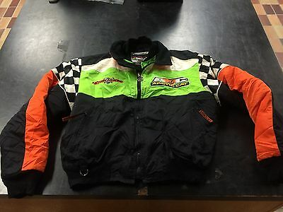 TEAM RACING GENUINE ARCTIC CAT KIDS SNOWMOBILE COAT JACKET SIZE YOUTH 16 3 in 1!