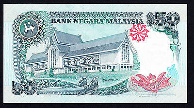"""Malaysia"" 50 Ringgit $50 ND (1991-1992) P. 31A ""UNC Banknote"""