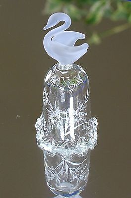 Thimble - Glass - Frosted Glass Swan