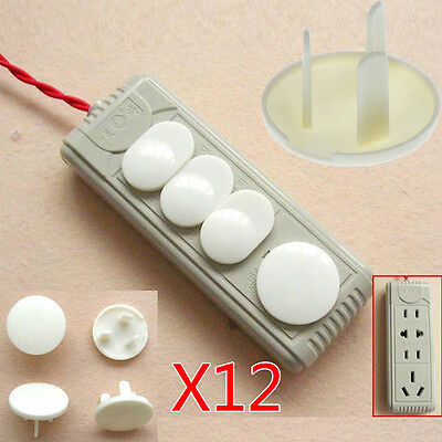 12 Pcs/Set Power Socket Outlet Plug Protective Cover Baby Child Safety Protector