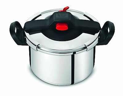 Tefal Clipso Aluminium Stainless Steel Pressure Cooker 6L Silver Home Kitchen