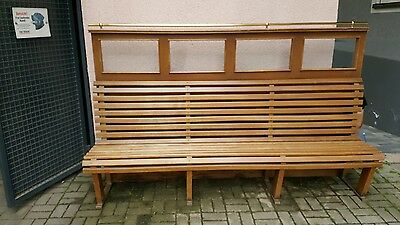 holzbank mit separater r ckwand raumteiler eur 349 00 picclick de. Black Bedroom Furniture Sets. Home Design Ideas